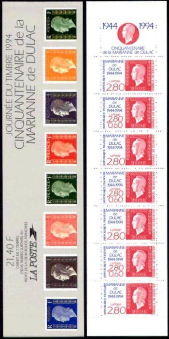 La bande carnet : Journée du timbre. Cinquantenaire de la Marianne de Dulac
