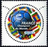 timbre N° 3170, France 98 coupe du monde de football (France champion du Monde)