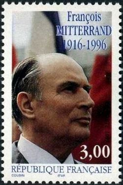 1er anniversaire de la mort du Président François Mitterrand  (1916-1996)