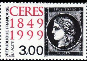 150èm anniversaire du premier timbre-poste français, Le Cérès noir 1900