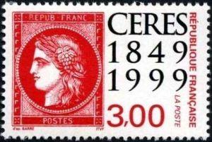 150èm anniversaire du premier timbre-poste français, Le Cérès rouge 1900