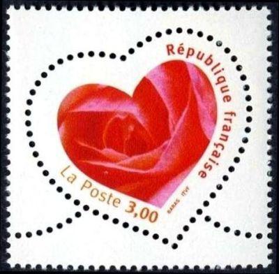 Saint Valentin, Coeur avec une rose