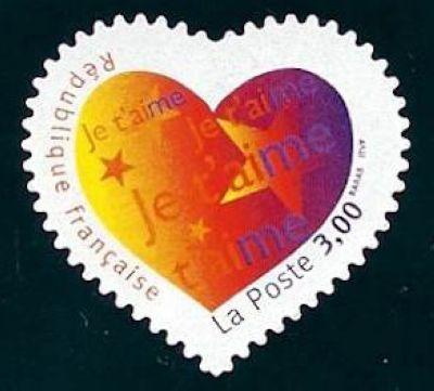 Saint Valentin, Coeur avec « Je t'aime »