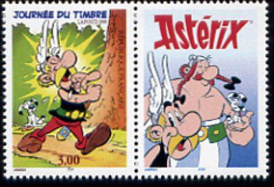 Journée du timbre, Astérix, bande dessinée créée par René Goscinny et dessinée par Albert Uderzo