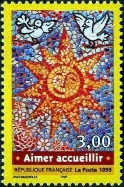timbre aimer accueillir timbres de france mis en 1999. Black Bedroom Furniture Sets. Home Design Ideas