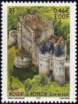 nogent le rotrou eure et loire timbres de france mis en 2001. Black Bedroom Furniture Sets. Home Design Ideas