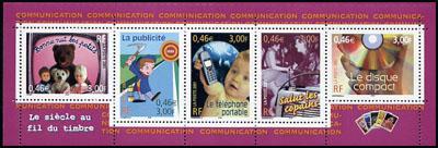 La bande carnet ,le siècle au fil du timbre la Communication