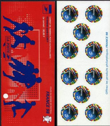 La bande carnet autoadhésif :  France 98 coupe du monde de football