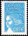timbre N° 3453, Marianne de Luquet 0,67 € turquoise