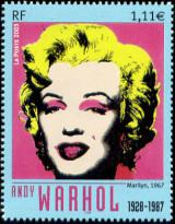 timbre N° 3628, « Marilyn » 1967 tableau d'Andy Warhol