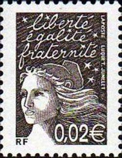 Marianne de Luquet 0,02 € brun