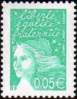 Marianne de Luquet 0,05 € émeraude