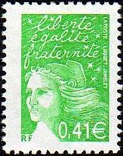 Marianne de Luquet 0,41 € vert