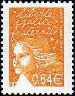 Marianne de Luquet 0,64 € orange foncé