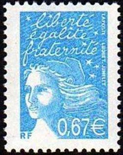 Marianne de Luquet 0,67 € turquoise