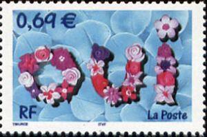 timbre pour mariage timbres de france mis en 2002. Black Bedroom Furniture Sets. Home Design Ideas