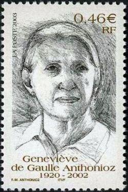 Hommage à Genevière de Gaulle Anthonioz (1920-2002)