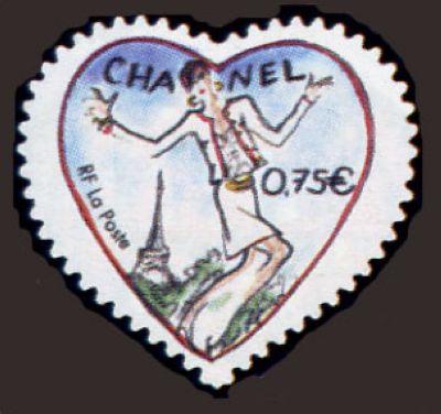 Saint Valentin, coeur 2004 du couturier Karl Lagarfeld, Tailleur Chanel