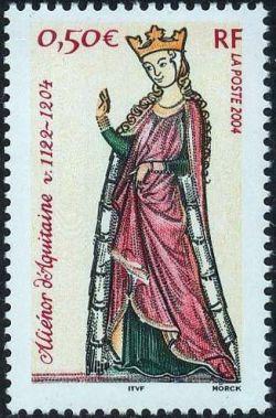 800èm anniversaire de la mort de la reine Aliénor d'Aquitaine ( vers 1122-1204)