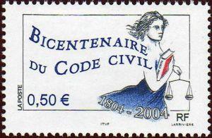 Bicentenaire du Code Civil, Promulgué le 21 mars 1804, par Napoléon Bonaparte,