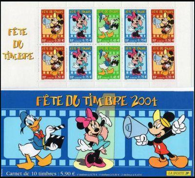 La bande carnet : Fête du timbre, dessins annimés de Walt Disney