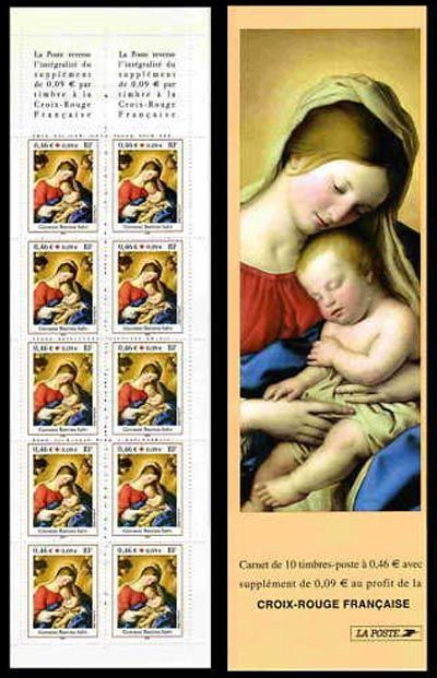 carnet croix rouge timbres de france mis en 2002. Black Bedroom Furniture Sets. Home Design Ideas