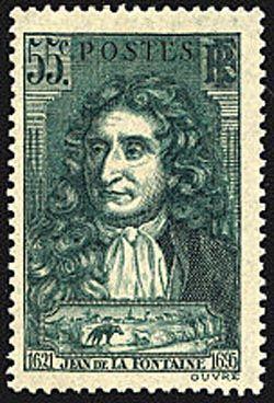 ' Jean de La Fontaine et scène du loup et de l''agneau '
