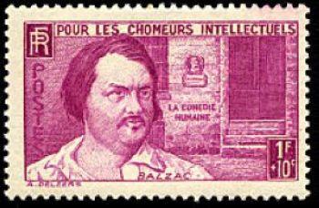 Honoré de Balzac (1799-1850) écrivain français. Romancier, dramaturge