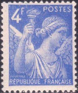 type iris 2 me s rie timbres de france mis en 1944. Black Bedroom Furniture Sets. Home Design Ideas