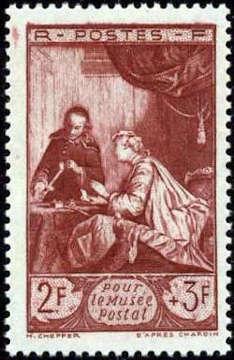 ' Le cachet de cire d''après J B Chardin (1699-1779) '
