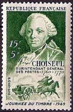 Etienne-François duc de Choiseul (1719-1785) et malle poste