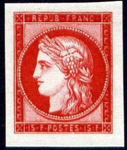 Centenaire du timbre Cérès 15F rouge