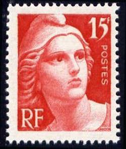 Centenaire du timbre Marianne de Gandon 15F rouge