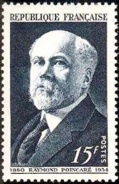 Raymond Poincaré (1860-1934) Président de la République de 1913 à 1920