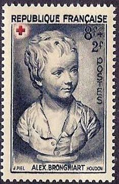 Croix rouge« Portrait de Brongniart enfant» d'après Houdon