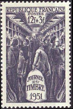 Journée du Timbre - Intérieur d'un wagon poste