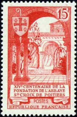 ' 14ème centenaire de l''abbaye Sainte-Croix de Poitier '