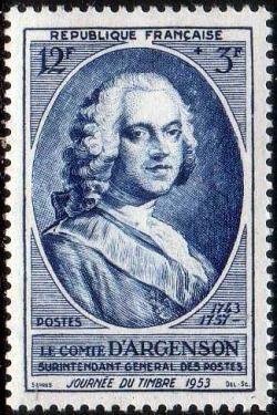 Pierre-Marc comte d'Argenson (1696-1764) surintendant général des postes