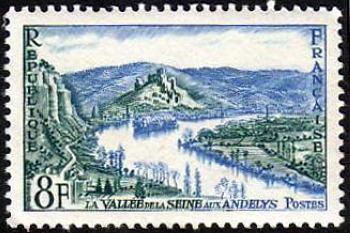 La vallée de la Seine aux Andelys et le château Gaillard