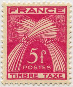 timbre taxe timbre fran ais taxe n 85 de couleur rose lilas mis en 1946 1955. Black Bedroom Furniture Sets. Home Design Ideas