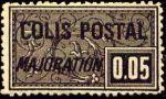 ' Colis postal ''majoration''  Impression grasse, gros trèfle sous le ''N'''