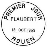 Oblitération 1er jour à Rouen le 18 octobre 1952
