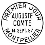 Oblitération 1er jour à Paris et Montpellier le 14 septembre 1957