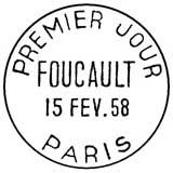 Oblitération 1er jour à Paris le 15 février 1958