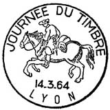 Oblitération 1er jour le 14 mars 1964