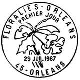 Oblitération 1er jour à Orléans le 29 juillet 1967