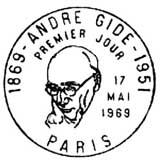 Oblitération 1er jour à Paris le 17 mai 1969