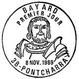Oblitération 1er jour à Poncharra le 8 novembre 1969