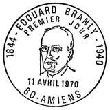 Oblitération 1er jour à Amiens le 11 avril 1970