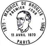 Oblitération 1er jour à Paris le 11 avril 1970